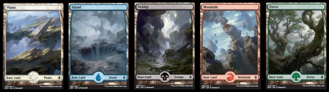 BFZ Full Art Lands